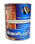 """Лак акриловый для саун и влажных помещений """"EUROPLAST"""""""